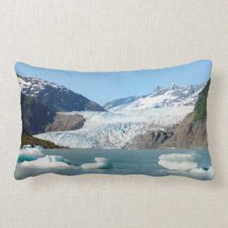 Mendenhall Glacier with and without icebergs Lumbar Cushion