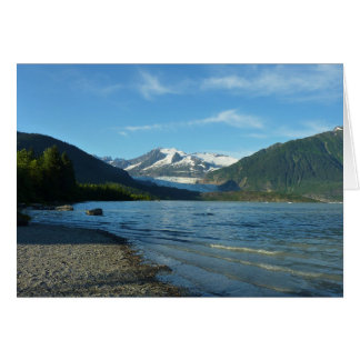 Mendenhall Lake in Juneau Alaska Card