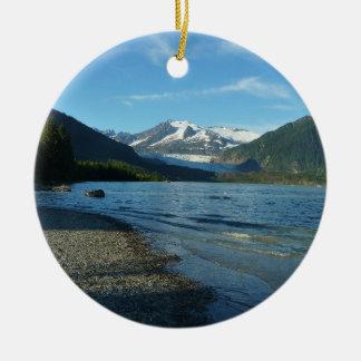 Mendenhall Lake in Juneau Alaska Ceramic Ornament