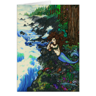 """Mendocino Mermaid"" Fairy Fantasy Coast Card"