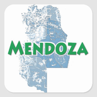 Mendoza Square Sticker