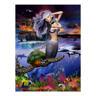 Menehune Mermaid Poster