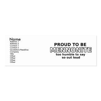 Mennonite Pride Funny Profile Card Humor Pack Of Skinny Business Cards