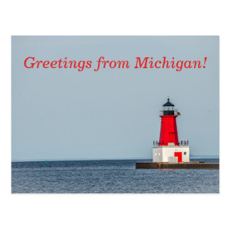 Menominee Pierhead Lighthouse Postcard
