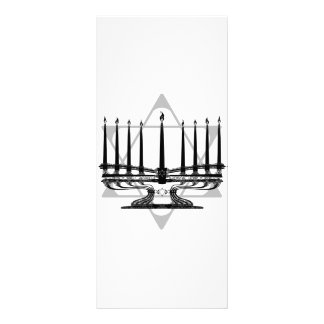Menorah and Star Personalized Rack Card