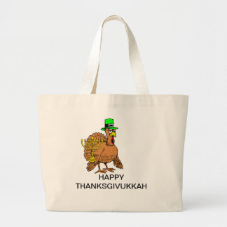 MENORAH AND TURKEY HAPPY THANKSGIVUKKAH BAG