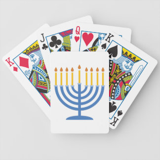 Menorah Bicycle Playing Cards