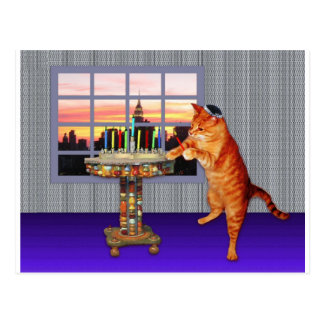 menorah cat.jpg post cards