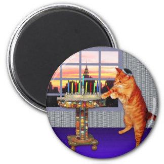 Menorah Cat Magnet