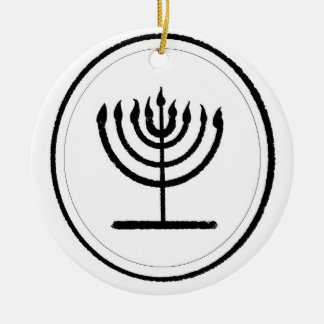 Menorah Ceramic Ornament