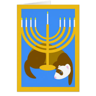 Menorah ferret card