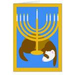 Menorah ferret greeting card