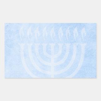 Menorah Glow Hanukkah Rectangular Sticker