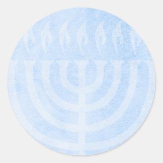 Menorah Glow Hanukkah Round Sticker