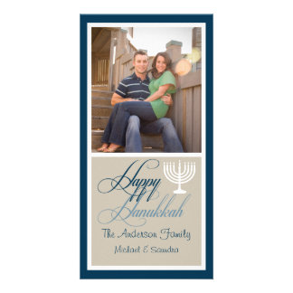 Menorah Hanukkah Photo Card