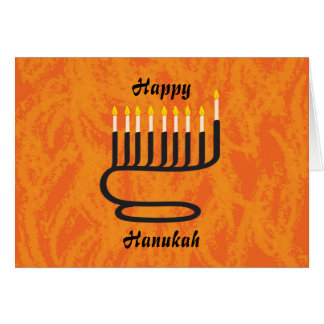 Menorah, Happy, Hanukah Card