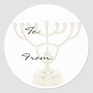 Menorah Holiday Gift Tag Stickers
