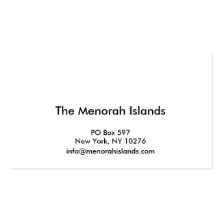 Menorah Islands Project Business Cards