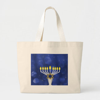 Menorah Large Tote Bag