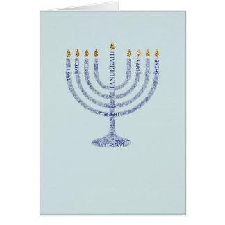 Menorah Typography Hanukkah Card