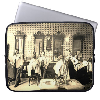 Mens 1890's Barber Shop Barber Hair Salon Photo Laptop Sleeve