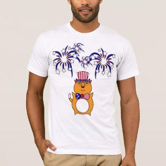 Men's 4th of July Happy Cat Shirt