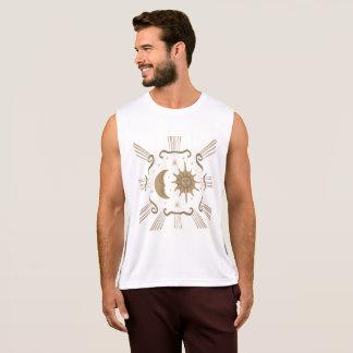 Men's active wear sun and moon design. singlet
