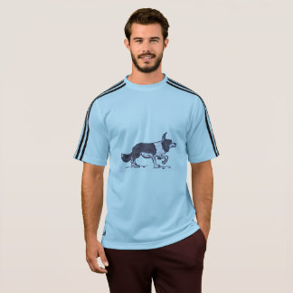 MEN'S ADIDAS CLIMALITE T-SHIRT - BORDER COLLIE