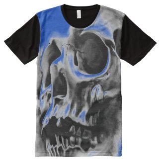 Mens All over True Blue  Skull Tee