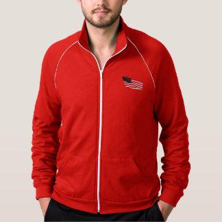 Men's American Apparel Patriot Fleece Track Jacket