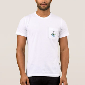 Men's American Apparel Pocket T- Sea Foam Grey T-Shirt