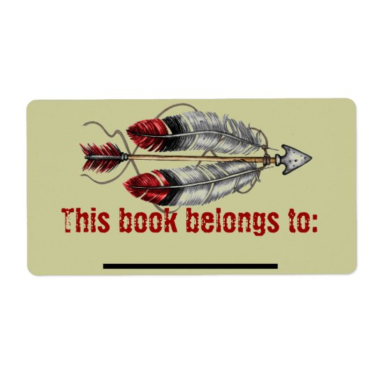 Men's Arrow Bookplate Shipping Label