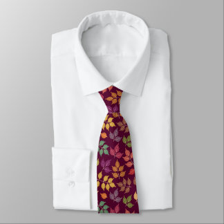 Mens Autumn Pattern Neck Tie