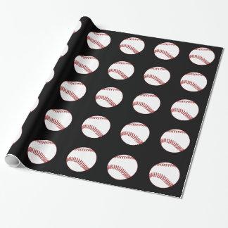 Men's Baseball Theme Gift Wrap Paper
