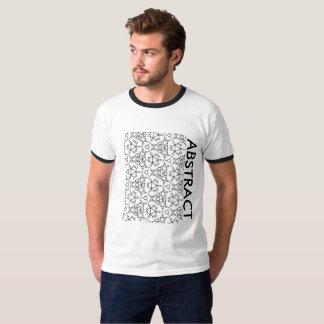 Men's Basic ABSTRACT Ringer T-Shirt