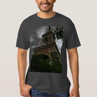 Men's Basic Dark Eiffel tower T-Shirt