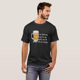 Men's Basic Dark T-Shirt Alcoholic Quote