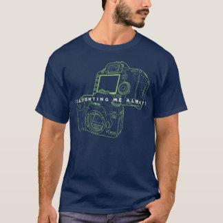 Men's Basic Dark T-Shirt Canon Greenlight Camera