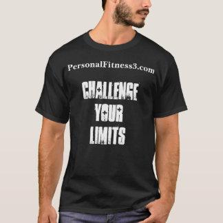 Men's Basic Dark T-Shirt - Challenge Your Limits