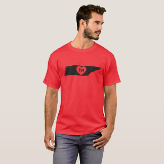Men's Basic Dark T-Shirt I Love Tennessee State
