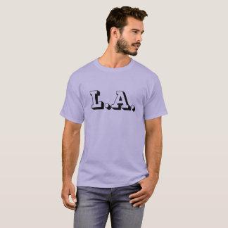 Men's Basic Dark T-Shirt Los Angeles Blackletters