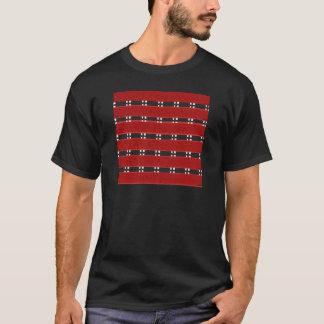 Men's Basic Dark T-Shirt RED/BLACK BARS