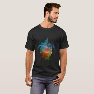 Men's Basic Dark T-Shirt Sea Turtle