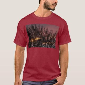 Men's Basic Dark T-Shirt SUNSET TREE PHOTOGRAPH
