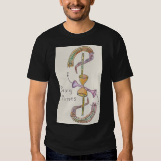 Men's Basic dark T-Shirt w/design size large