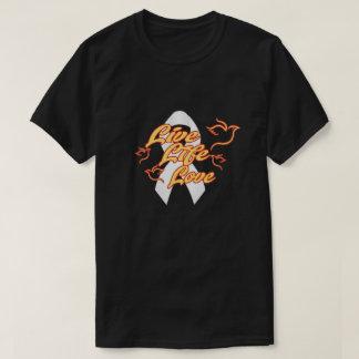 Men's Basic Dark T-shirt w/LLL white ribbon logo