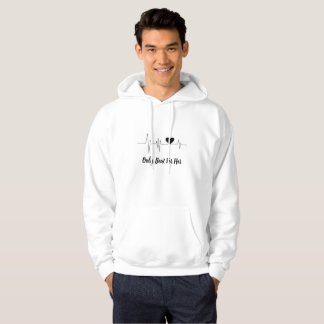 Men's Basic Heartbeat Couple Hooded Sweatshirt
