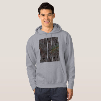 Men's Basic Hooded Sweat Shirt with text and photo