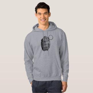 Men's Basic Hooded Sweatshirt Hand Grenade