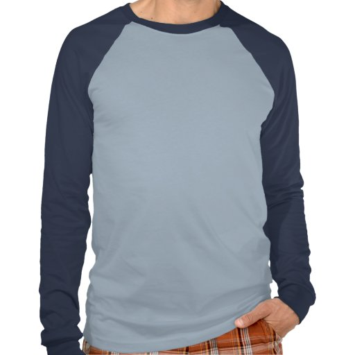 Mens Basic Long Sleeve Raglan Lt Blue/Navy Shirt